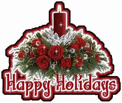 Happy Holidays Animated Glitter Flowers Toyota Avalon