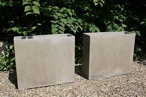 Blumenkübel Als Raumteiler : 2er set pflanzk bel raumteiler aus beton elemento natur ~ Michelbontemps.com Haus und Dekorationen