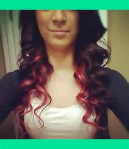 Dark Brown Hair with Red Underneath