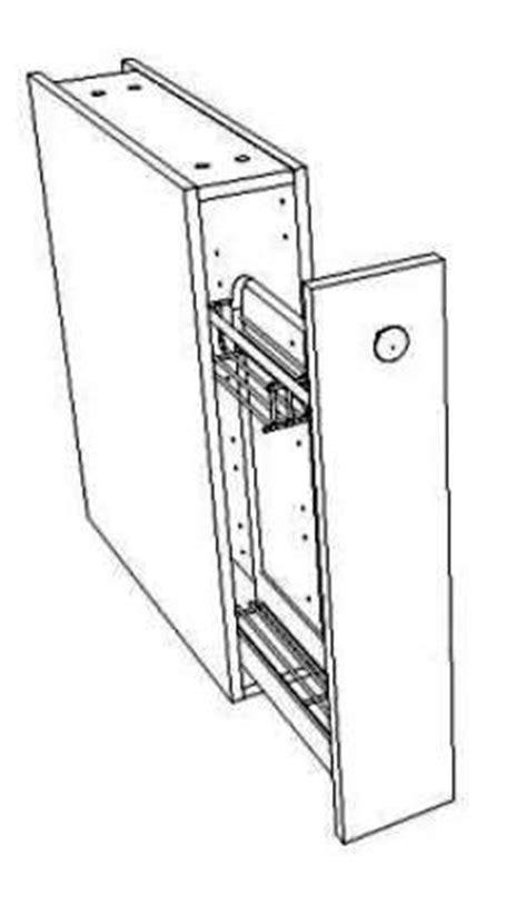 meuble bas cuisine largeur 15 cm meuble bas coulissant largeur 15 cm pour le rangement des bouteilles et épices