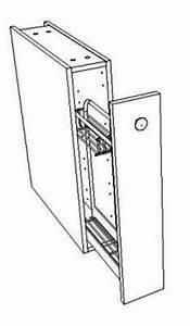 Meuble Largeur 15 Cm : meuble bas coulissant largeur 15 cm pour le rangement des bouteilles et pices ~ Teatrodelosmanantiales.com Idées de Décoration