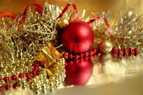 life  red  gold christmas ornaments
