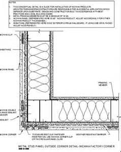 metal stud corner framing detail httpcadfindernichihacomsite