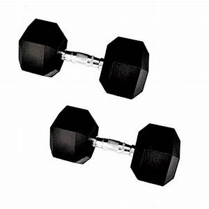 Shop Rubber 20-pound Hex Dumbbell  Set Of 2  - Free Shipping Today - Overstock