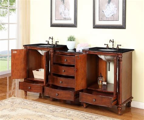 83 inch traditional bathroom vanity with a black