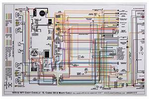Factory Wiring Diagram  Full Color W   Gauges Fits 1970