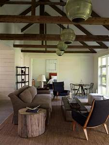 Gardinen Hohe Decken : wohnzimmer rustikal gestalten teil 2 ~ Indierocktalk.com Haus und Dekorationen