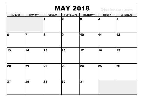 blank calendar template pdf may 2018 printable calendar free printable calendar 2018