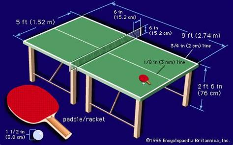 what are the dimensions of a table tennis table table tennis britannica com