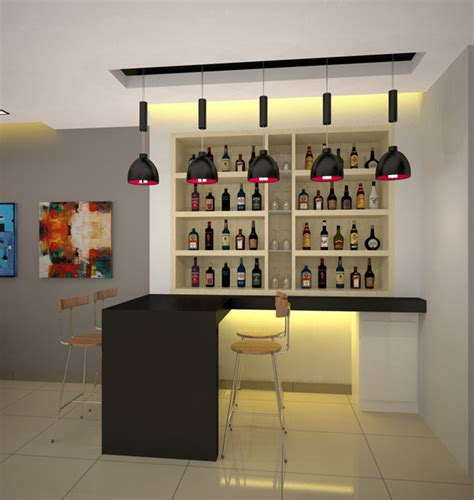 modern bar counter design idea