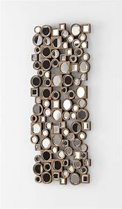 Aldo abstract modern wall mirror by cyan design