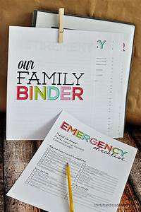 emergency binder printables family just bcause With family documents binder