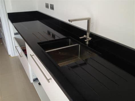 3600mm absolute black granite worktop