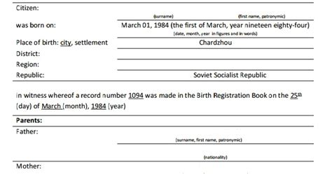 birth certificate translation template russian translation how to translate russian birth certificate