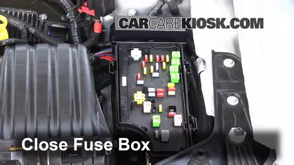 interior fuse box location   dodge avenger