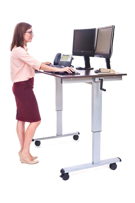 luxor standup cf48 dw crank adjustable stand up desk
