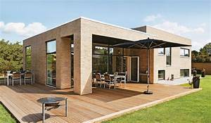 Bungalow Häuser Preise : danhaus fertighaus egernsund als flachdach bungalow wall1 haus kubus haus und haus architektur ~ Yasmunasinghe.com Haus und Dekorationen