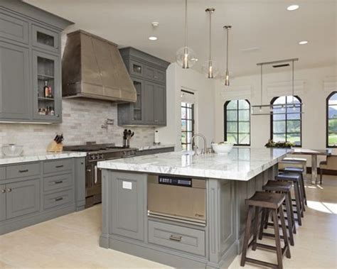 Gray Kitchen Cabinets Design Ideas & Remodel Pictures   Houzz