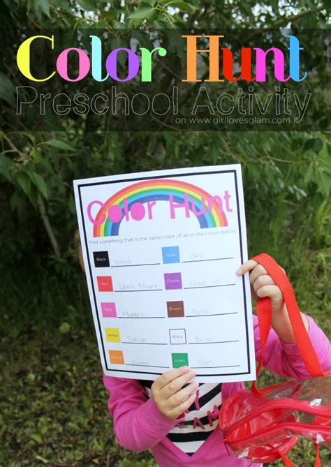 color hunt outdoor preschool printable free 767 | 8a4ff933203632f4bf8e9a0b37d19f9e