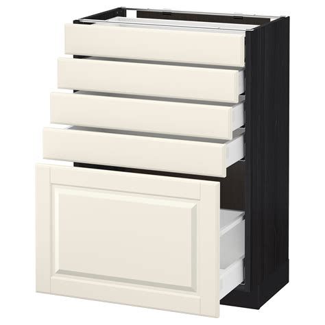 ikea base cabinets without legs metod maximera base cabinet with 5 drawers black bodbyn