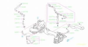 2005 Subaru Legacy Hose Vacuum  Intake  Manifold  Pipe