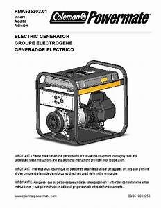 Coleman Powermate Pma525302 Generator Owners Manual