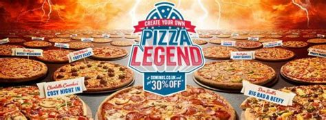 Create Your Own 'legends Pizza' For 30% Off! @ Dominos