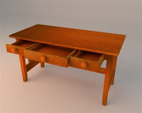 simple desk with drawers simple wooden desk with drawers by jestary 3docean
