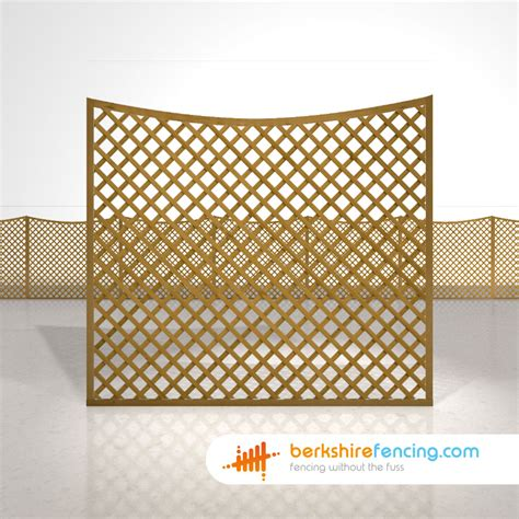 6ft Fence Panels With Trellis by Concave Trellis Fence Panels 5ft X 6ft Brown