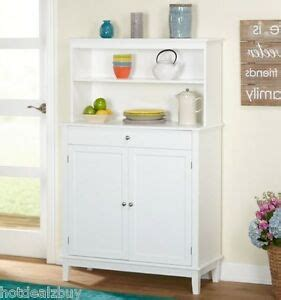 Kitchen Hutch With Drawers by White Kitchen Hutch Buffet China Cabinet Storage Cupboard