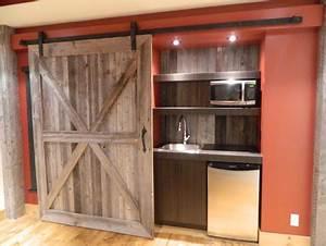porte coulissante sur mesure bois antique et recycle With porte de douche coulissante avec salle de bain style vintage