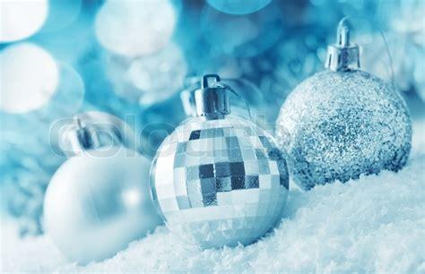 christmas balls silver balls stock photo colourbox
