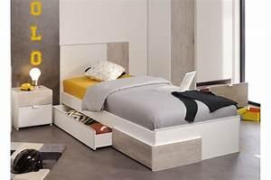 Meuble Chambre Pas Cher : lit 1 place pas cher solder cbc meubles ~ Dode.kayakingforconservation.com Idées de Décoration