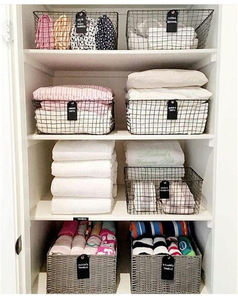 Linen Cupboard Organisation by I Can Hear The Organizations In 2019 Linen