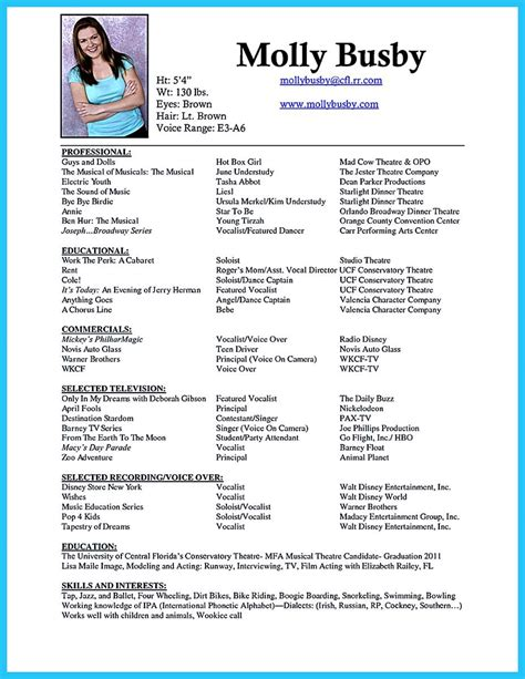 Special Skills For Resume by Pin On Resume Template Acting Resume Cover Letter For