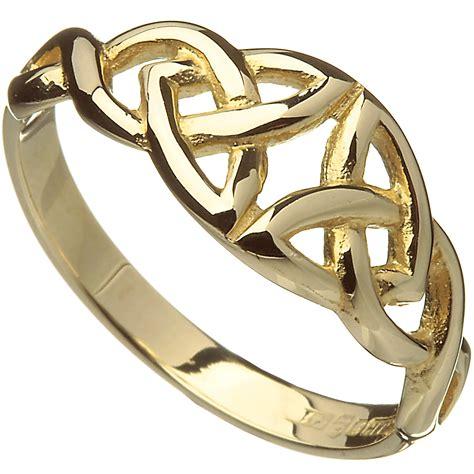 irish ring 10k yellow gold celtic trinity knot band at irishshop com ijtj00109
