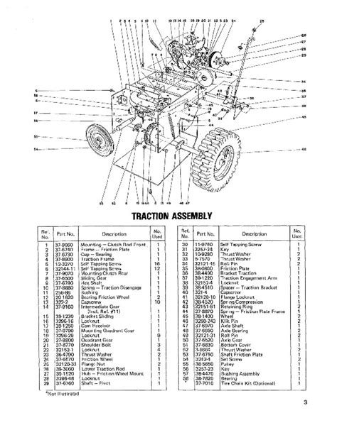 Toro 38010 421 Snowblower Parts Catalog, 1980