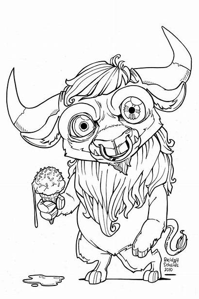 Minotaur Coloring Colouring Nian Monster Pages Drawings
