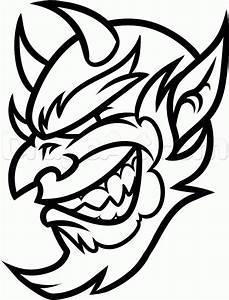 How to Draw a Cool Devil Head, Step by Step, Concept Art ...