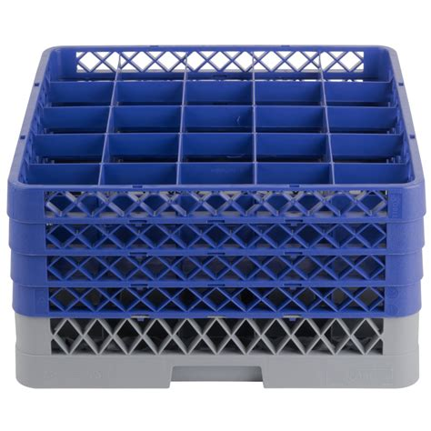 noble products  compartment gray full size glass rack   blue extenders