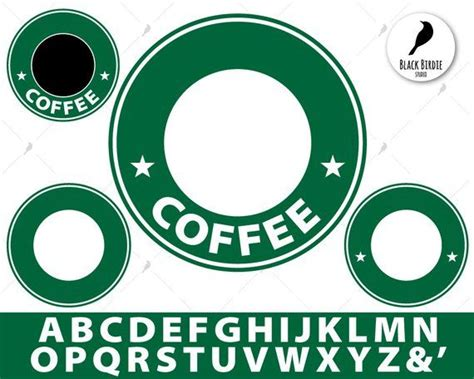 coffee circles  letters svg  cliparts pack black  color  scrapbooking