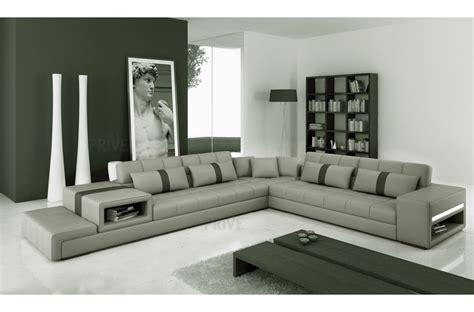 canap angle gris clair canapé d 39 angle en cuir italien 6 7 places gris