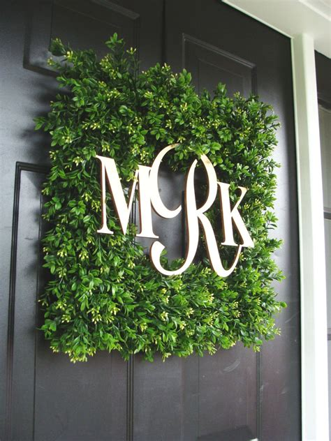 popular items  boxwood wreath  etsy monogram wreath door decorations wedding wreaths