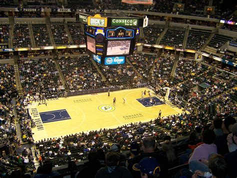 fieldhouse bankers indiana pacers section seat row seating profan9 conseco grizzlies memphis aviewfrommyseat chart