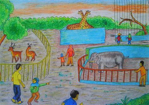 Gambar Wahyuti Journal Menggambar Hiasan Dinding Sekolah