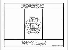 Printable Flag of afghanistan coloring page Printable
