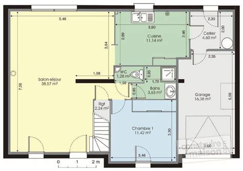 plan maison à étage 4 chambres maison contemporaine 7 dé du plan de maison