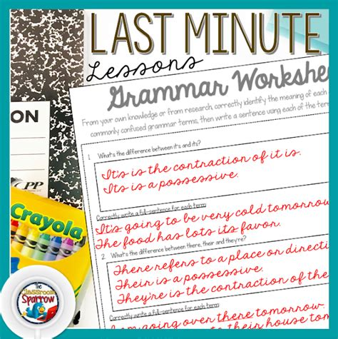 minute english language arts lesson plan ideas