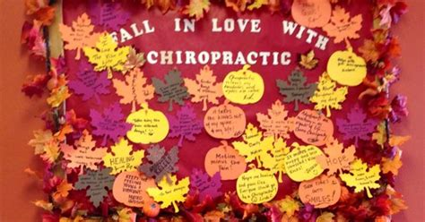 fall  love  chiropractic bulletin board great