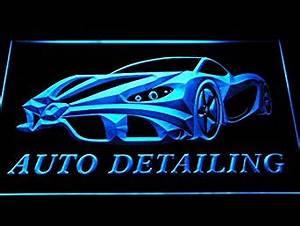 Auto Detailing Detail Car Wash LED Sign Neon Light Sign